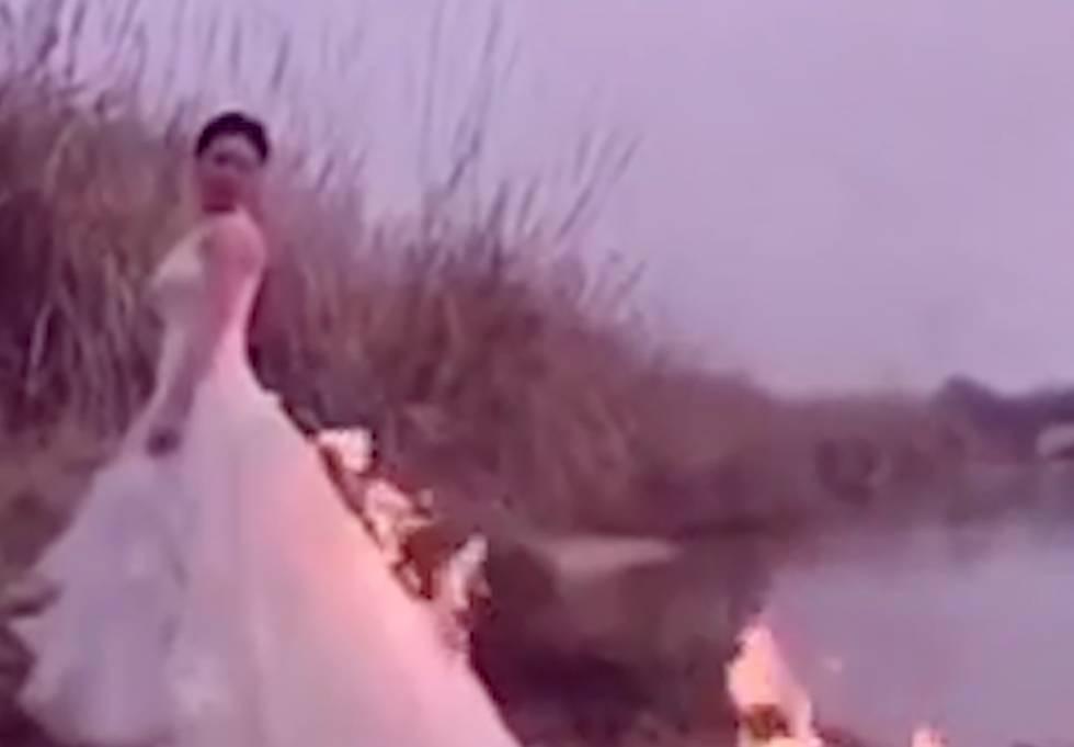 Vídeo: Una novia quema su vestido y casi sale ardiendo en China ...