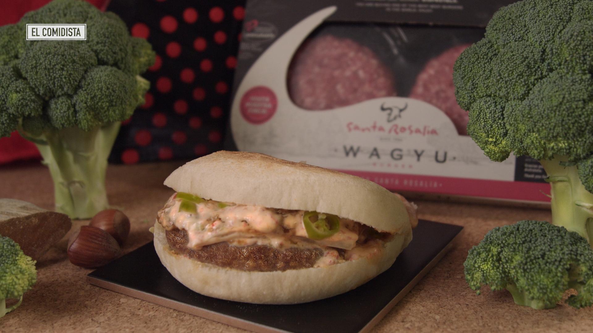 Hamburguesa de wagyu en versión española