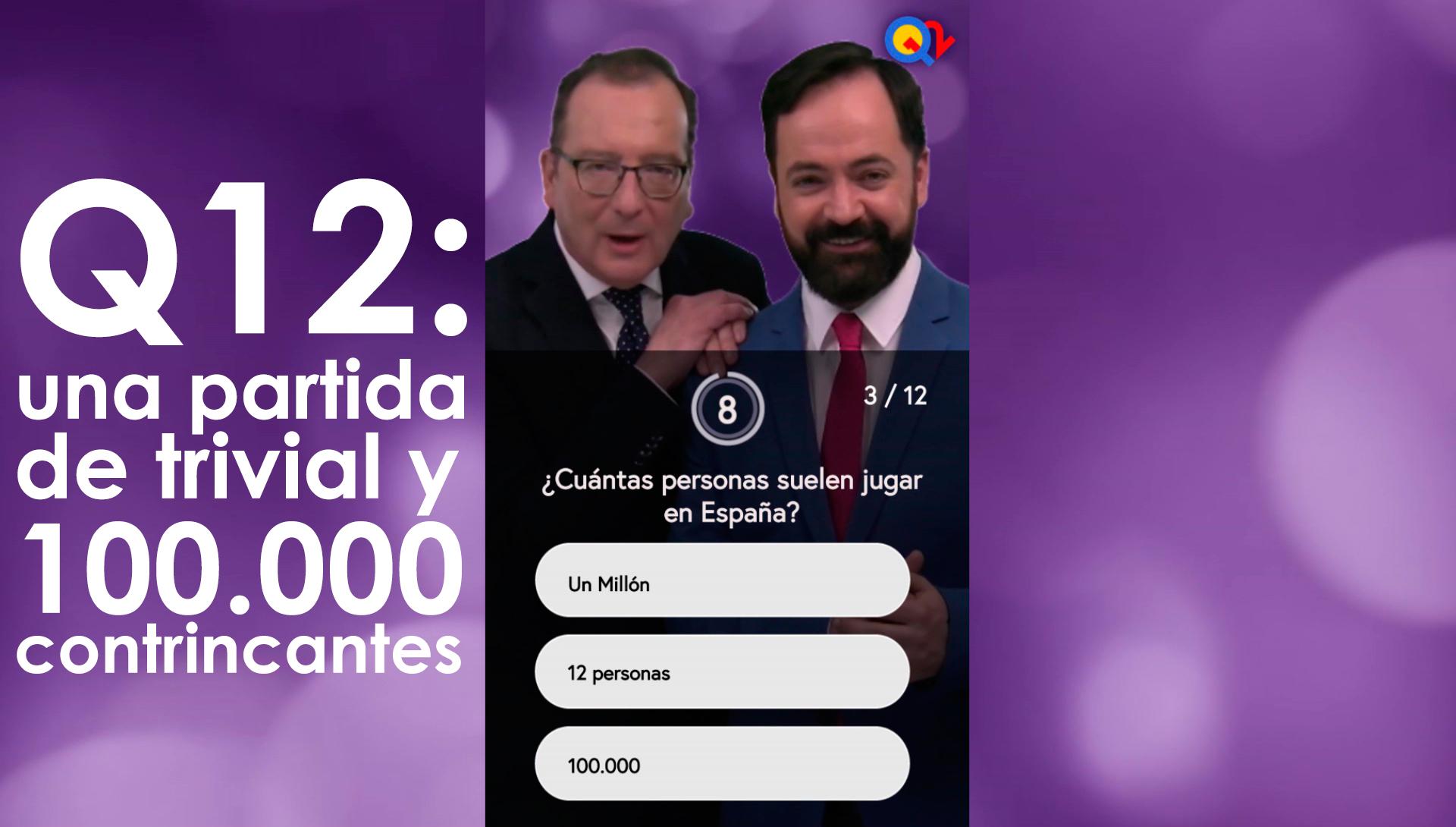 Q12, el programa de televisión (en el móvil) con 100.000 concursantes diarios