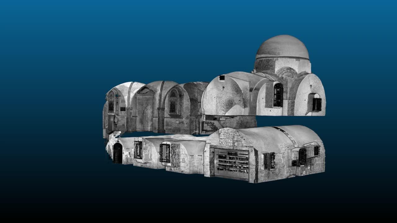 El Cenáculo  de Jerusalén,  recreado en 3D 3